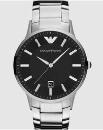 Silver-Tone Analogue Watch