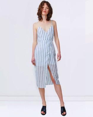 Third Form – Come Around Wrap Dress – Dresses (Stripe)