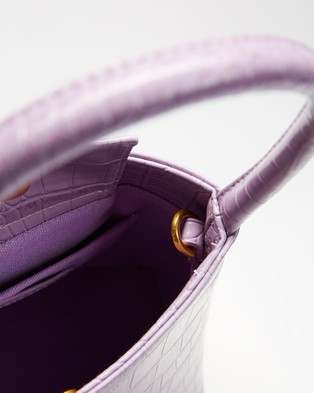 Brie Leon ICONIC EXCLUSIVE   The Chloe - Handbags (Lilac Croc)