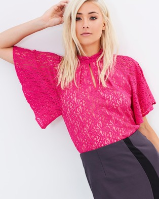 Pink Ruby – Bloom Floaty Top – Tops (Pink)