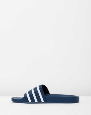 adidas Originals Adilette   Unisex - Slides (Adiblue & White)