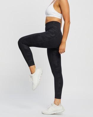 Sweaty Betty Super Sculpt 7 8 Yoga Leggings - Full Tights (Black Camo Embossed Print)