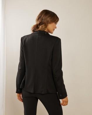 Atmos&Here Ponte Blazer - Blazers (Black)
