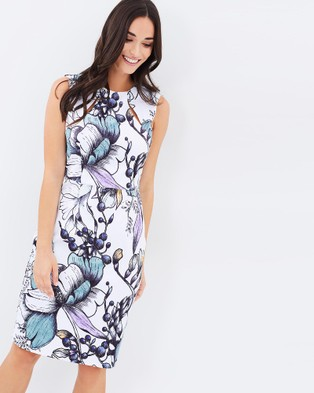 Buy 3rd Love - Linea Blooms Sleeveless Dress - Dresses (White) -  shop 3rd Love dresses online