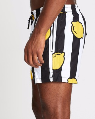 Nikben Limoncello Shorts - Swimwear (Black & White)