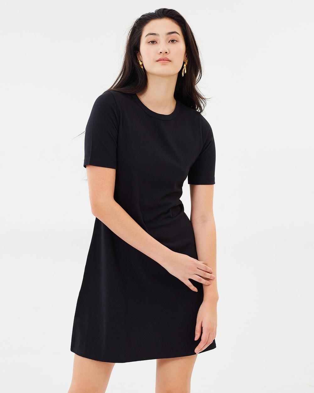 J.Crew Short Sleeve Knit Dress Dresses Black Short Sleeve Knit Dress