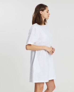 Assembly Label Drawn Dress - Dresses (White)