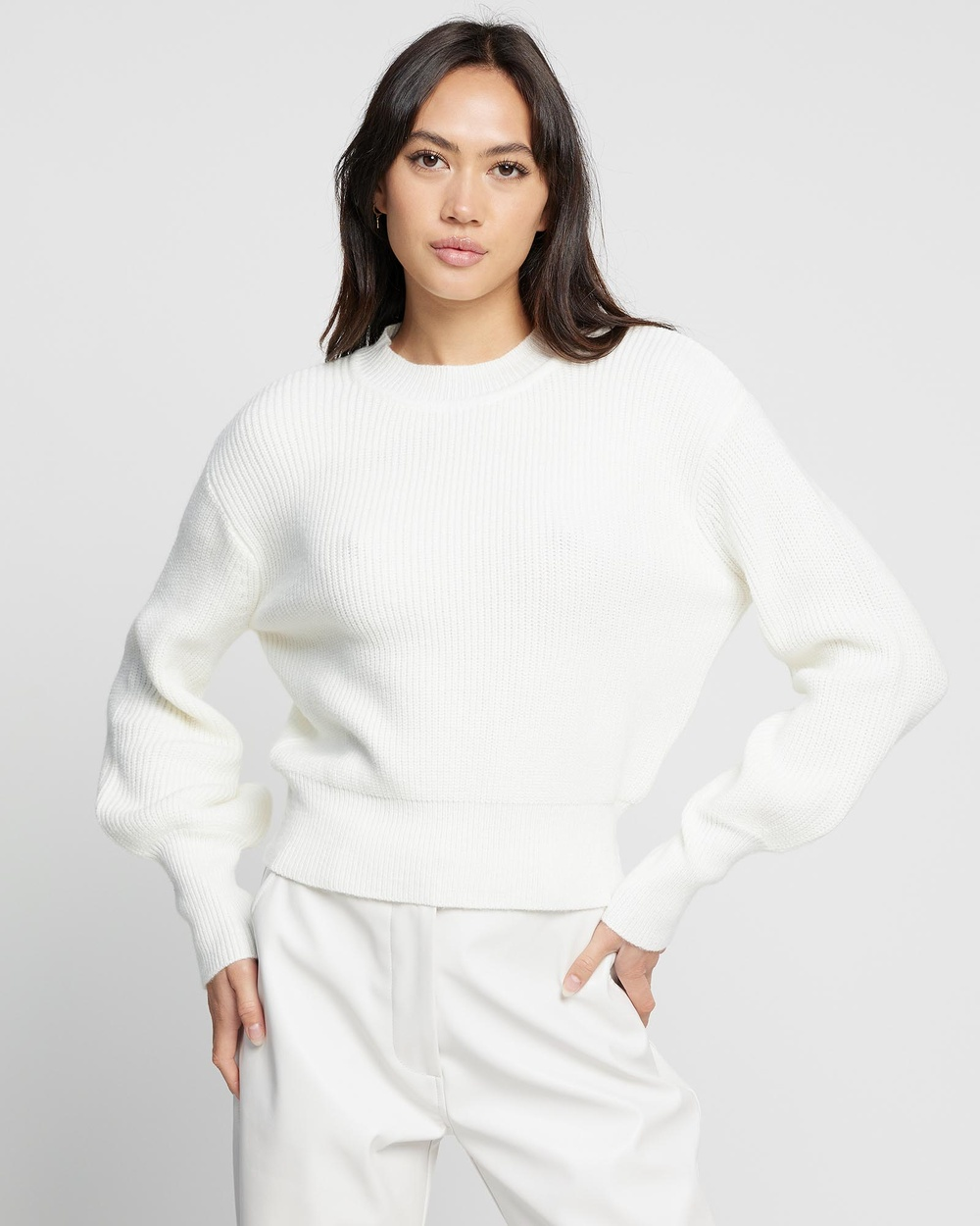 All About Eve Olivia Knit Sweater Jumpers & Cardigans Bone