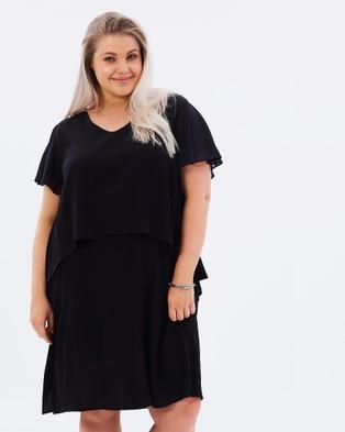 Buy Advocado Plus - Universal Theory Layered Dress Black -  shop Advocado Plus dresses online