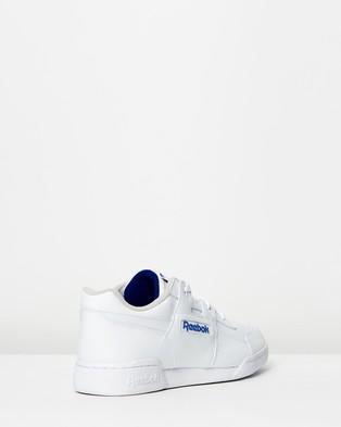 Reebok Workout Plus   Unisex - Sneakers (White & Royal)