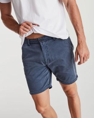 Coast Clothing Solid Chino Shorts - Chino Shorts (Navy)