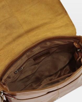Cobb & Co Alex Leather Large Satchel - Tech Accessories (TAN)