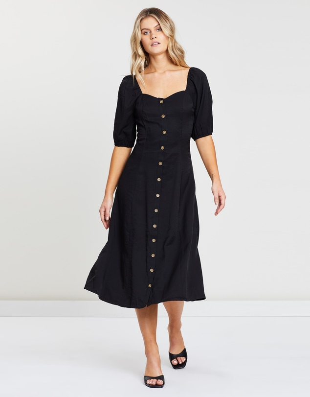presenting los angeles shop best sellers Cora Button-Through Midi Dress by Atmos&Here Online | THE ICONIC ...