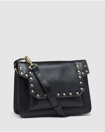 Oxford Patti Leather Stud Bag Black