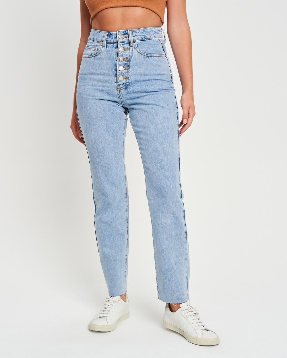 The Fated Nicci Jean Jeans Light Blue Wash Australia
