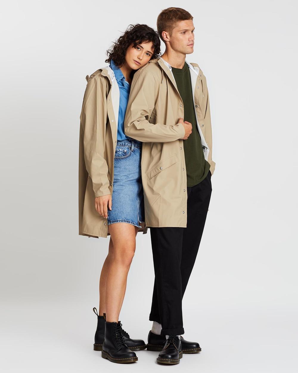 RAINS Long Jacket Coats & Jackets Beige