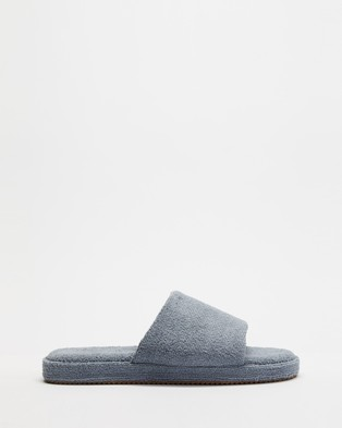 Staple Superior Ibiza Terry Towelling Slides - Sandals (Charcoal)