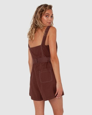 Madison The Label Lucia Playsuit - Jumpsuits & Playsuits (Chocolate)