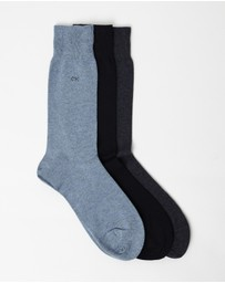 Calvin Klein - Cotton Blend Socks 3-Pack