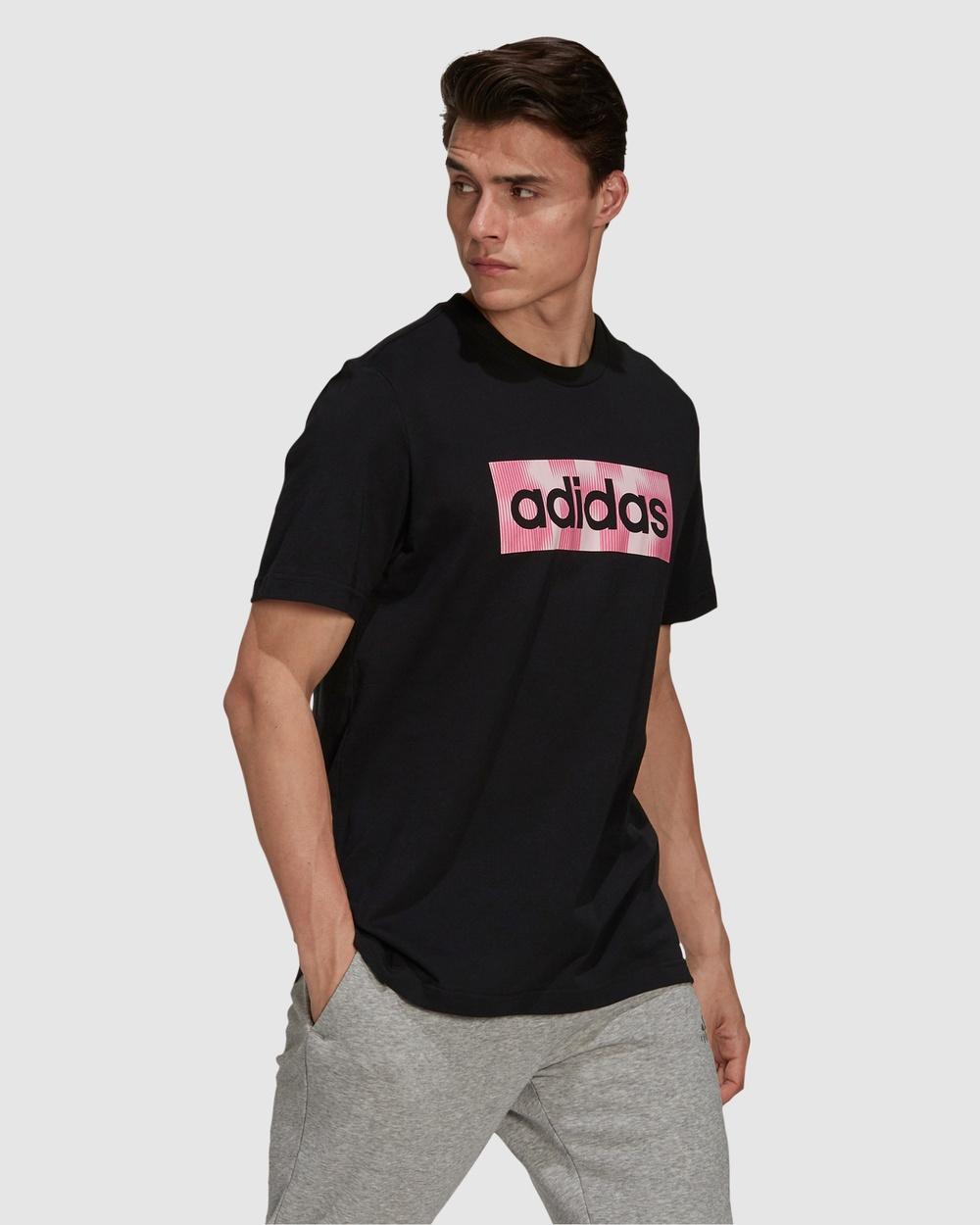 adidas Performance Box Logo Graphic Tee T-Shirts & Singlets Black