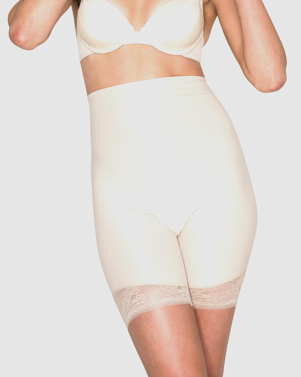 Hush Essensual Firm Control High Waist Thigh Shaper Lingerie Nude Australia