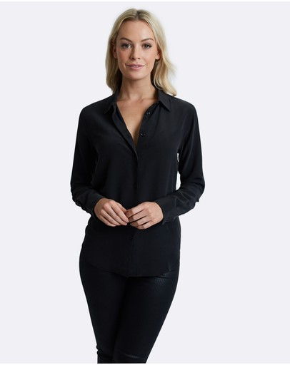 The Fable - Midnight Black Silk Shirt