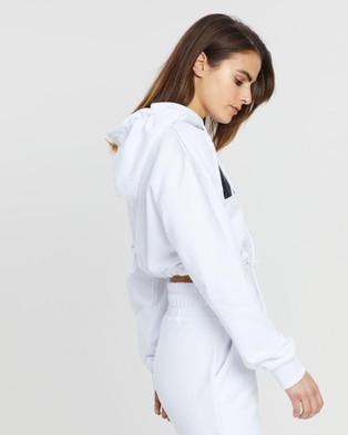 VILLIN Nikki Hooded Crop - Hoodies (White)