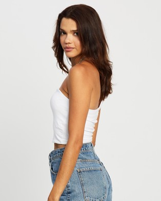 Cotton On One Shoulder Sleeveless Top - Cropped tops (White)