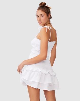 Cotton On Body - Tiered Shirred Beach Dress Swimwear (White)