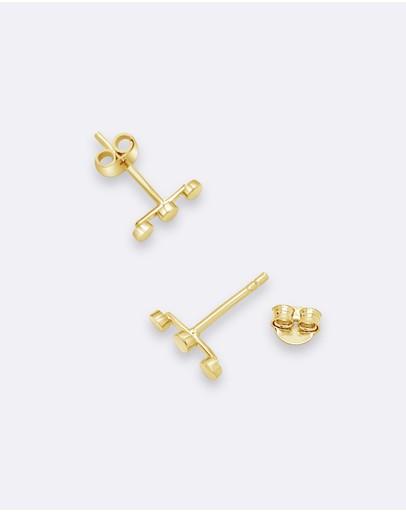 Ichu Tiny Triple Circle Ear Cuff Gold 925 Sterling Silver