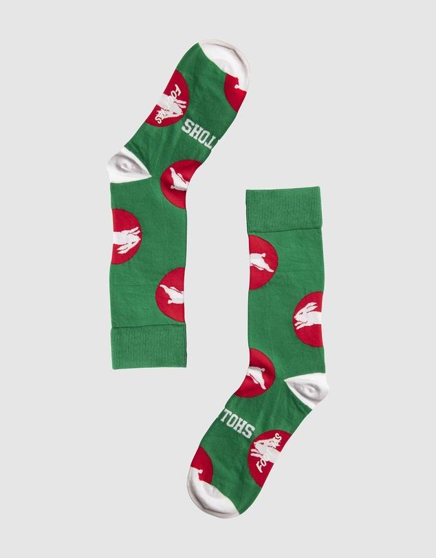 Men South Sydney Rabbitohs Socks - NRL x Foot-ies
