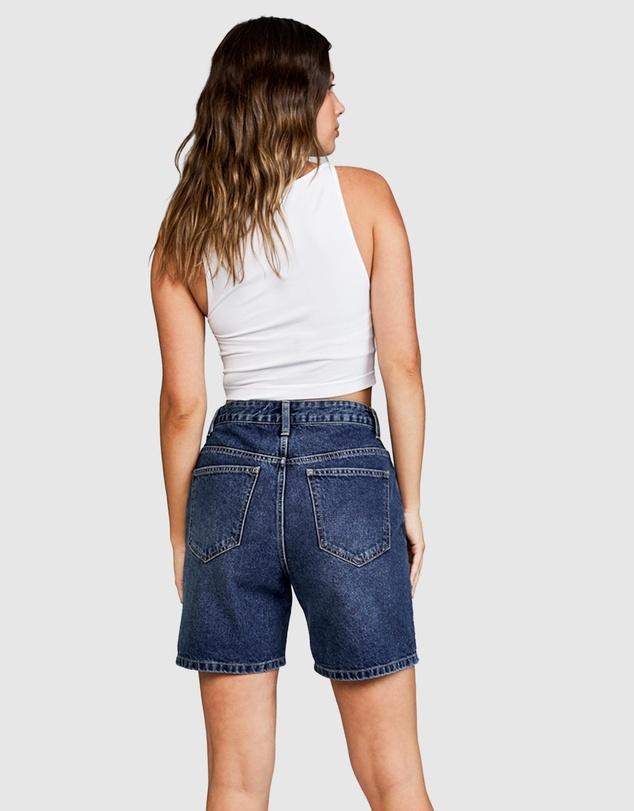 Women Straight Denim Bermuda Shorts