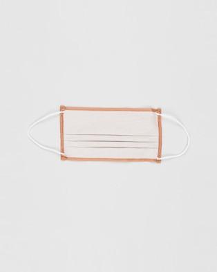 M.N.G Face Mask   2 Pack - Face Masks (Pastel Orange)