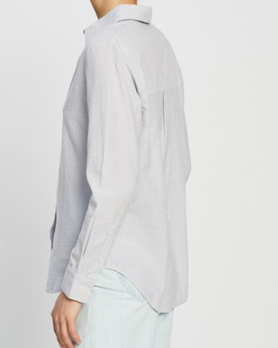 Nude Lucy Nude Classic Shirt - Tops (Grey Stripe)