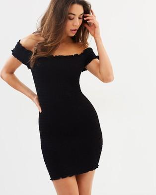 Bardot – Off Shoulder Dress – Bodycon Dresses Black