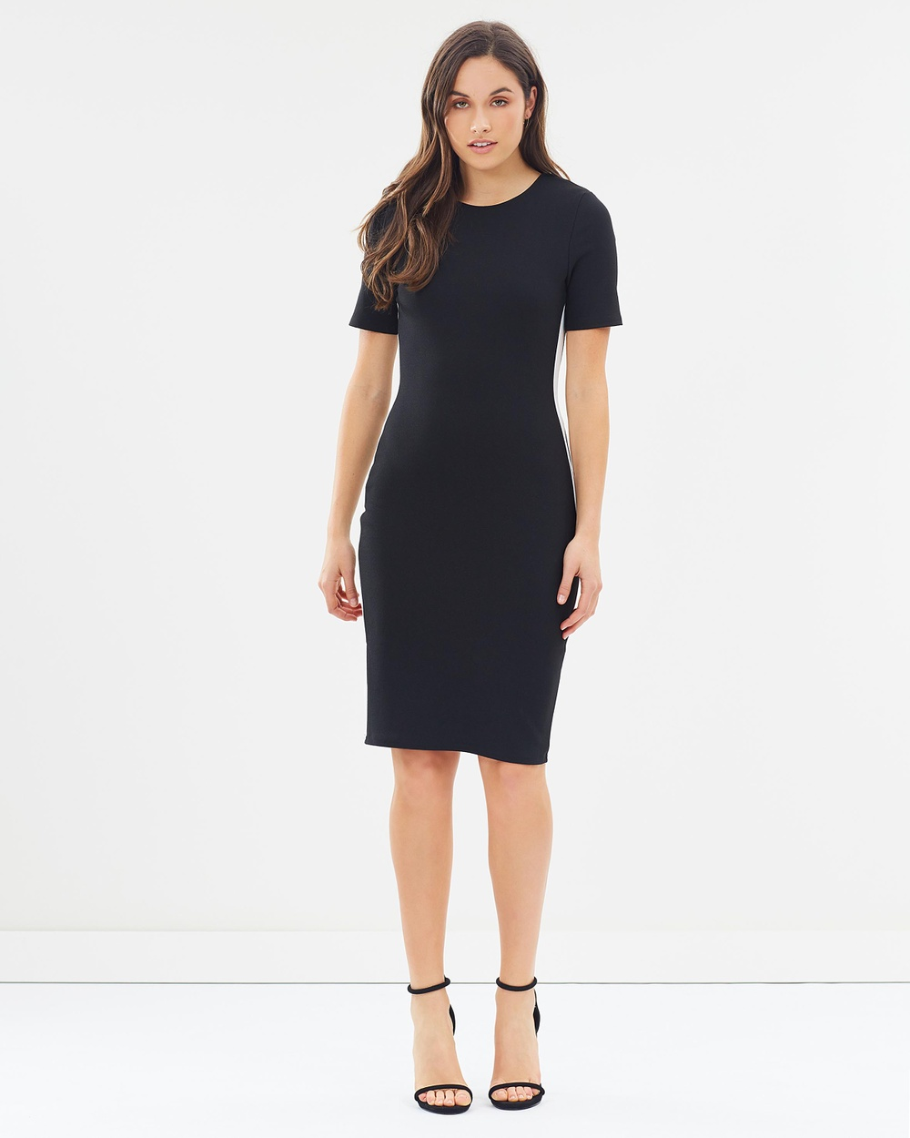 Dorothy Perkins Stripe Body Con Dress Bodycon Dresses Black Stripe Body-Con Dress