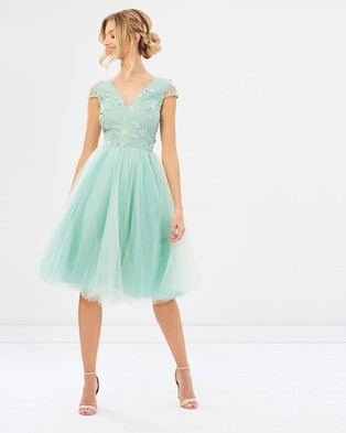 Chi Chi London – Amika Dress – Bridesmaid Dresses Green