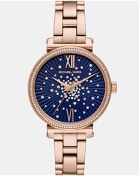 Michael Kors - Sofie Rose Gold-Tone Analogue Watch