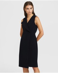 ARIS - Folded Lapel Dress