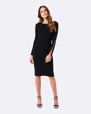 Forever New – Tori Button Sleeve Dress – Dresses (Black)