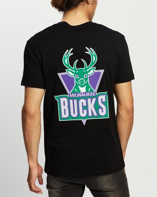 Mitchell & Ness Retro Repeat SS Tee - Short Sleeve T-Shirts (Bucks Black)