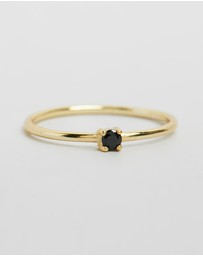 By . G - Saint Fine Black Quartz Ring