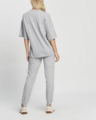 Missguided Co Ord T Shirt & Jogger Set - Sweatpants (Grey)