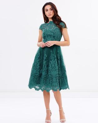 Chi Chi London – Laurel Dress Teal