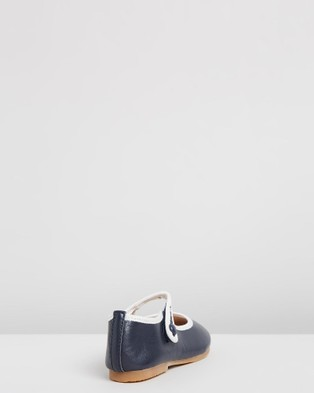 Little Fox Shoes Angel - Ballet Flats (Navy & White)