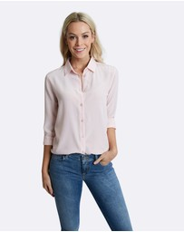 The Fable - Rose Quartz Silk Shirt