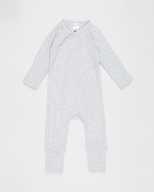 Bonds Baby - The Essentials Pack Babies Longsleeve Rompers (New Grey Marle)