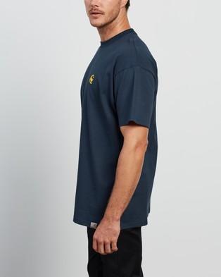 Carhartt - SS Scorpions C T Shirt - T-Shirts & Singlets (Admiral & Colza) SS Scorpions C T-Shirt