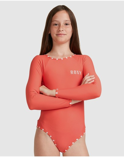 Roxy - Girls 8-14 Kinda Savage Long Sleeve UPF 50 One Piece Rashguard