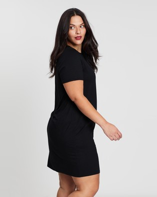 Atmos&Here Curvy Liza Tee Dress Dresses Black